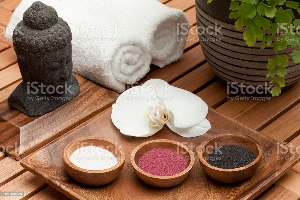 spa treatment bath salts royalty-free stock photo