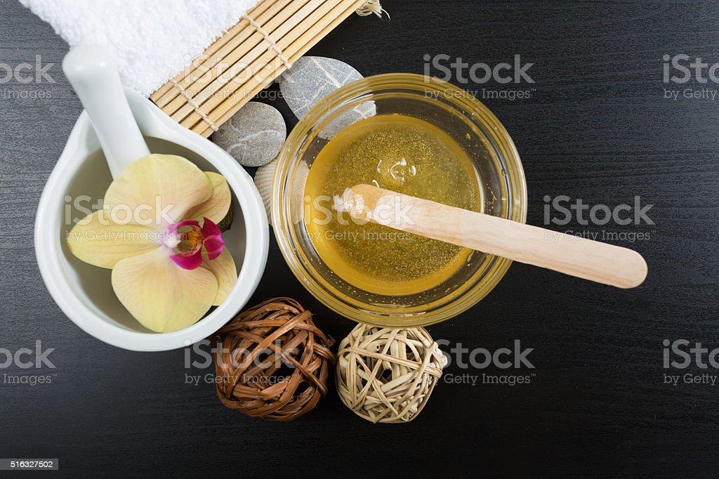 Spa treatment essentials stock photo
