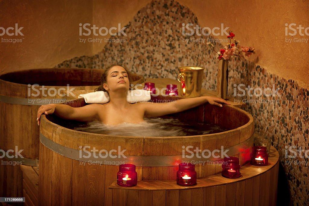 Spa Treatment in the Furo stock photo