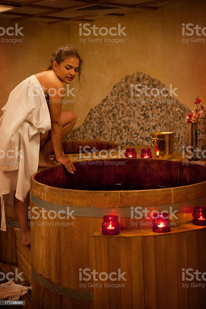 Spa Treatment in the Furo. stock photo
