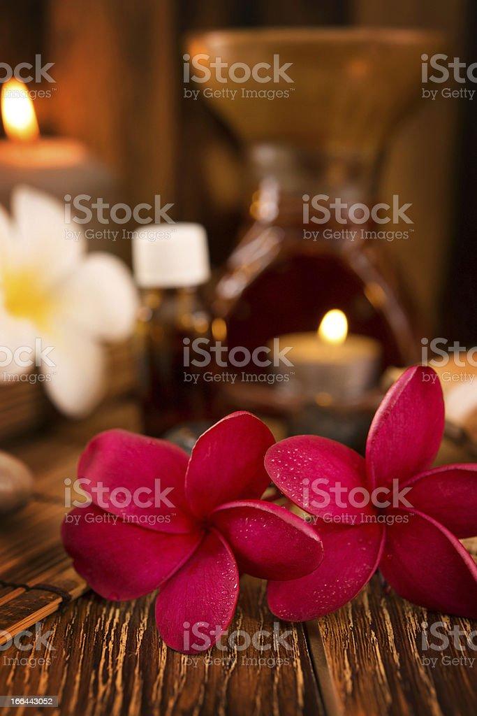 Spa treatment setting royalty-free stock photo