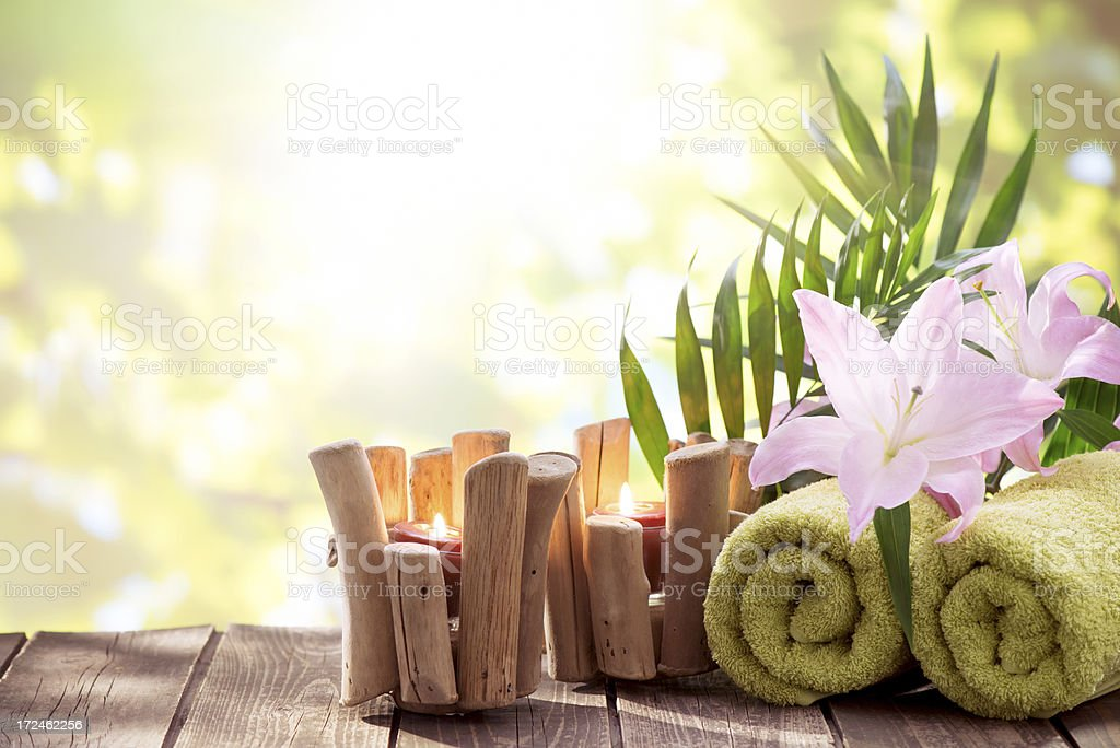 Spa Treatment with nature background royalty-free stock photo