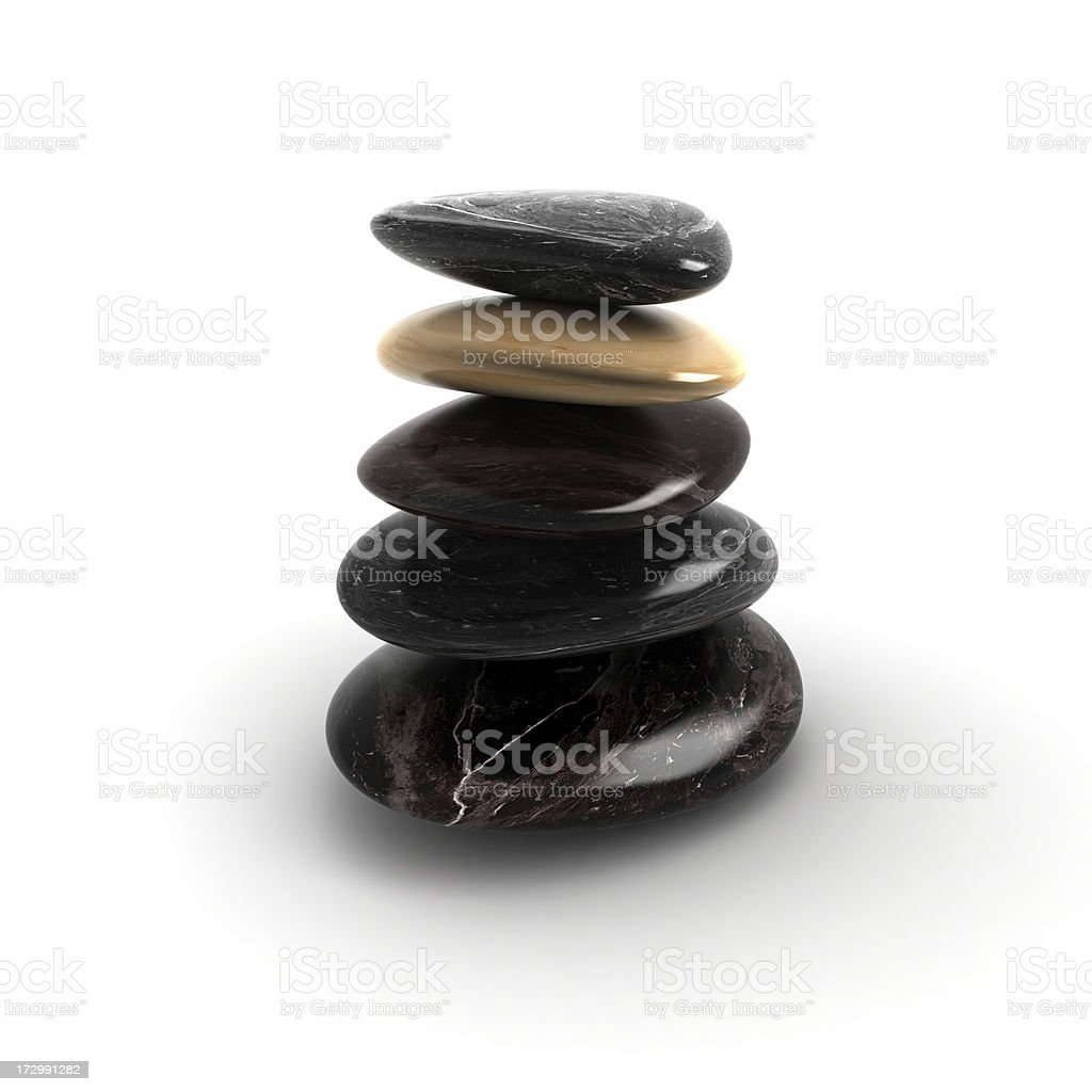 Spa Treatment,Balancing Stones royalty-free stock photo
