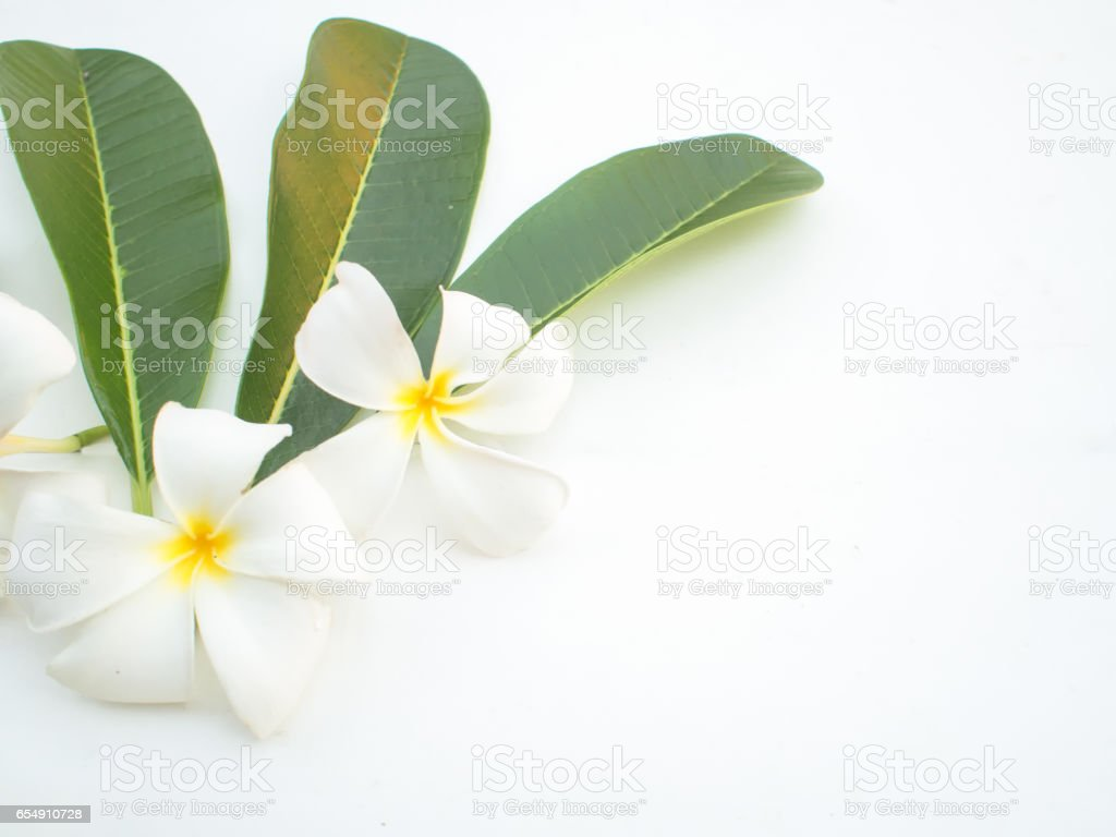 Spa Treatments and massage on wooden white, soft and select focus stock photo