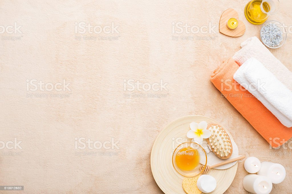 Spa treatments background stock photo