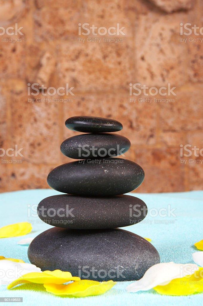 Spa volcano stones royalty-free stock photo