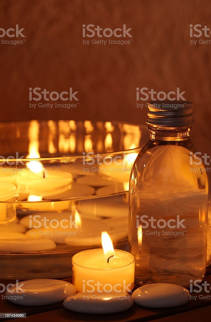 Spa with Candle Light royalty-free stock photo