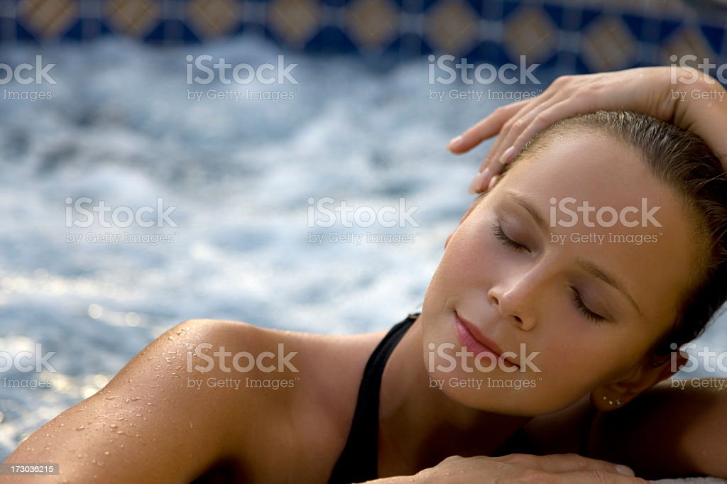 spa woman close up stock photo