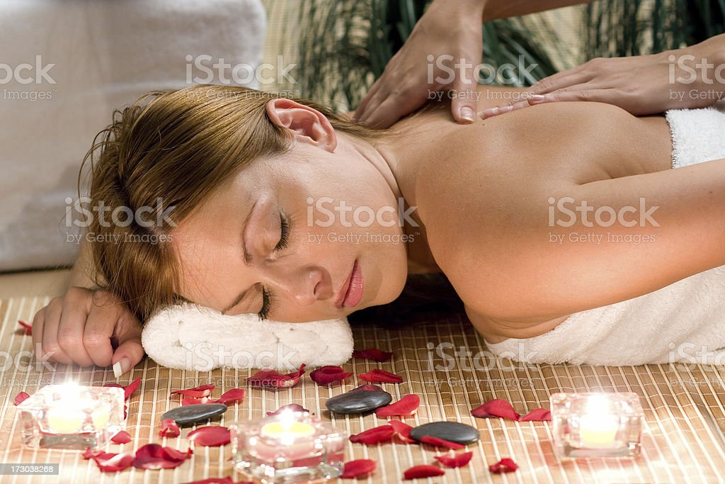 spa woman massage royalty-free stock photo