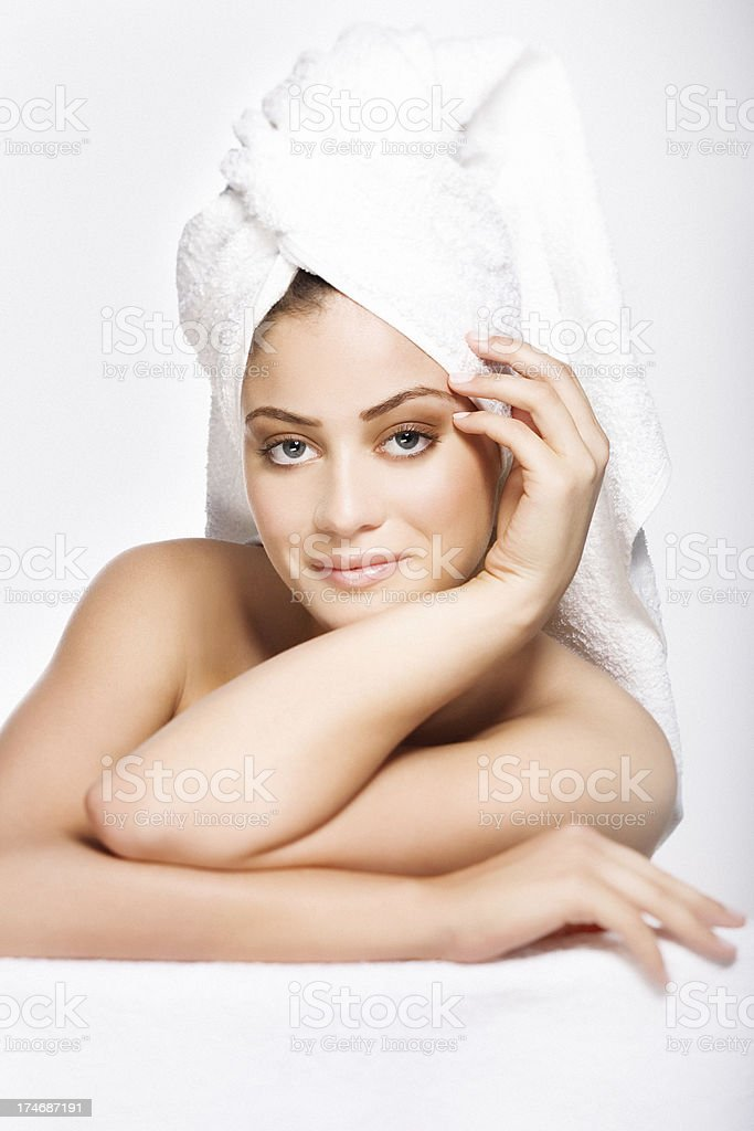 spa woman portrait royalty-free stock photo