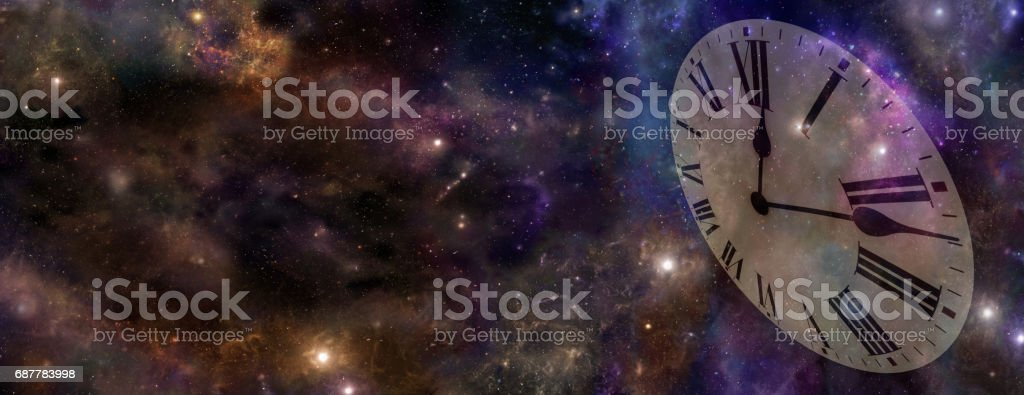 Space and Time Banner stock photo