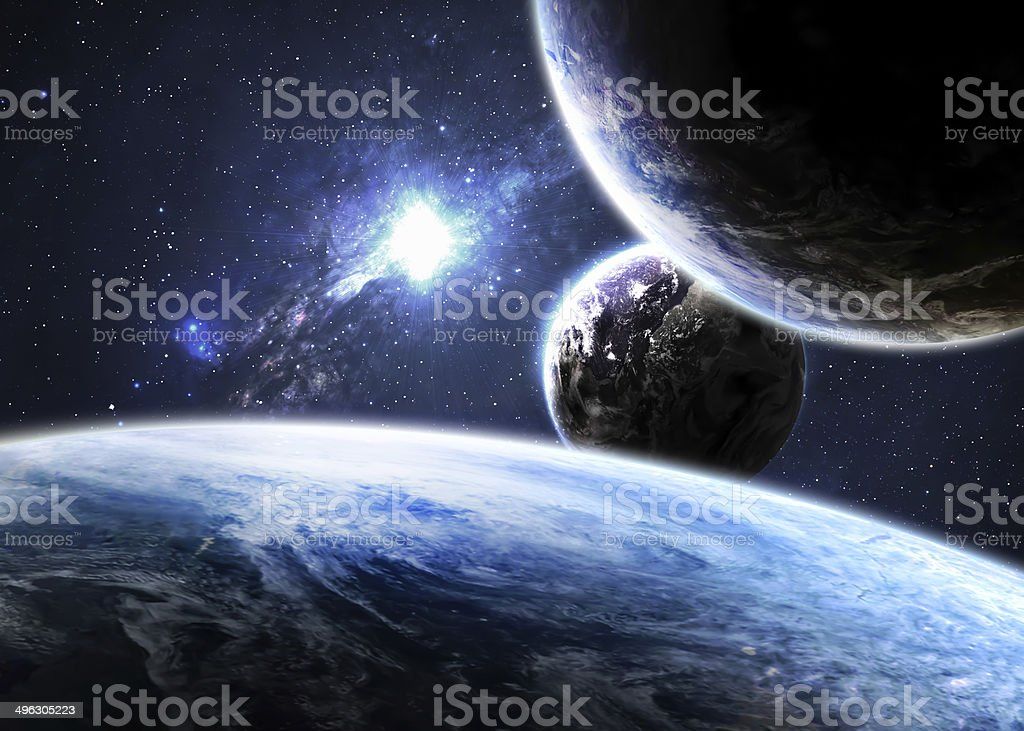 Space background. Elements of this image furnished by NASA stock photo