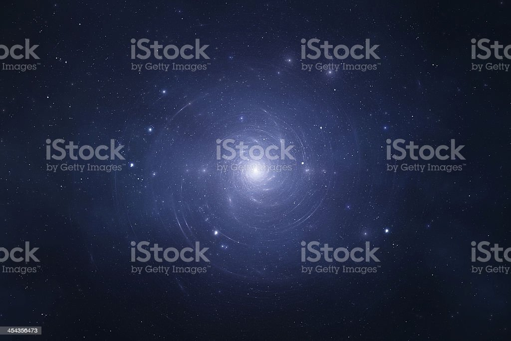 Space background - Spiral Galaxy royalty-free stock photo