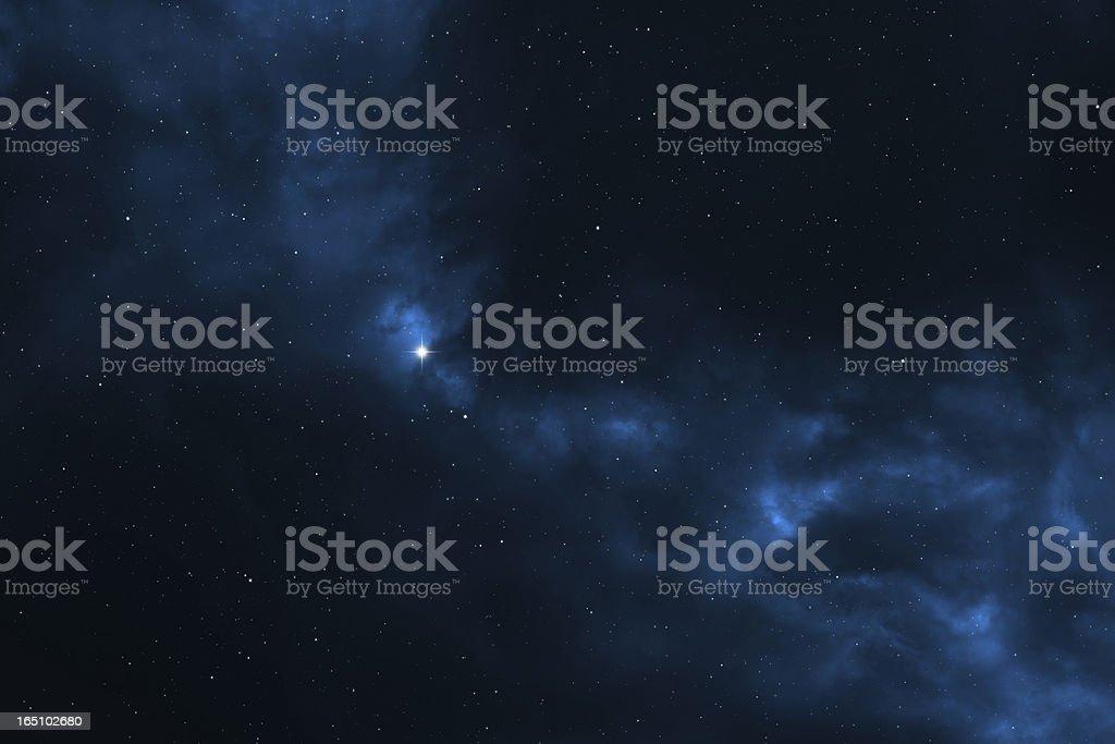 Space background - stars, universe, galaxy and nebula stock photo