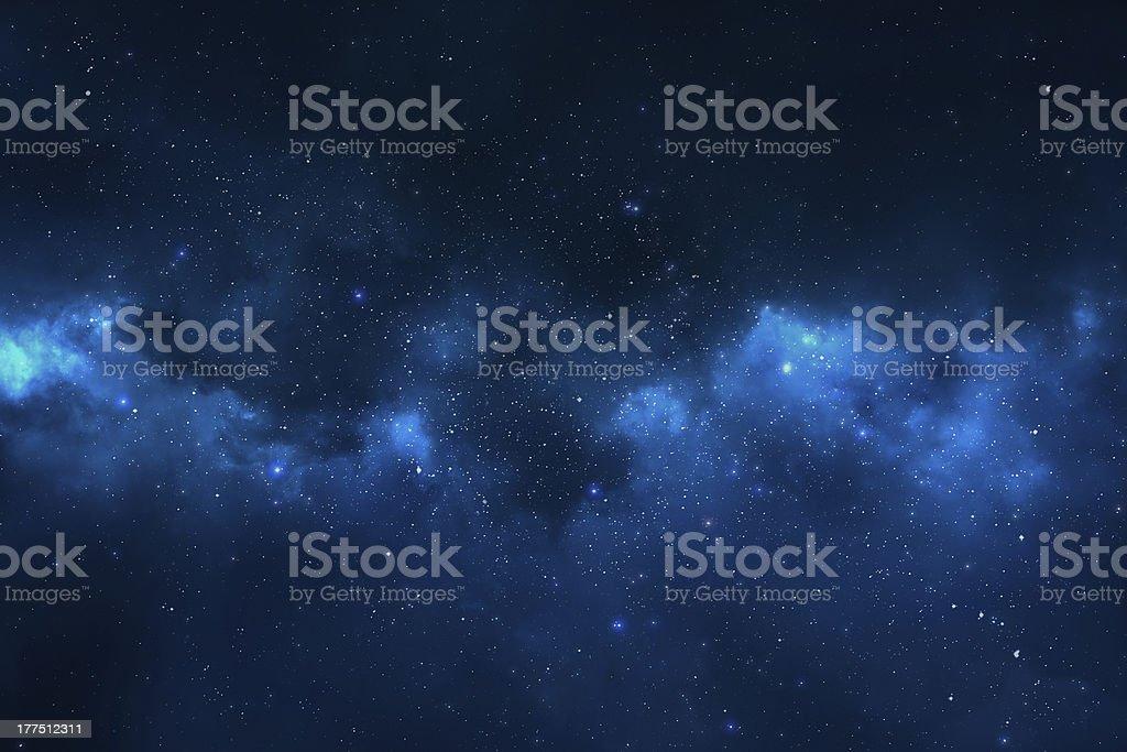 'Space background - stars, universe, galaxy and nebula' stock photo
