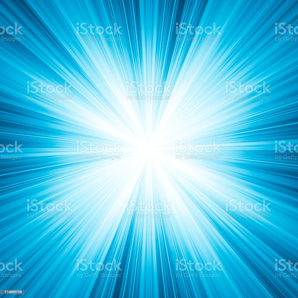 Space background with bright rays come from inside stock photo