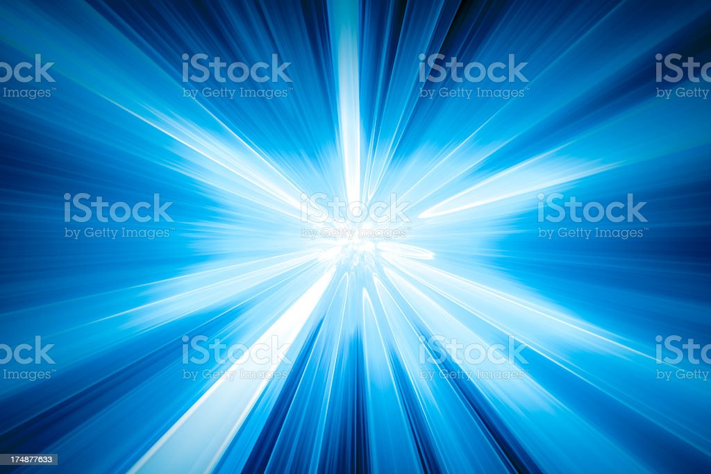 Space background with lights radiate in all directions stock photo