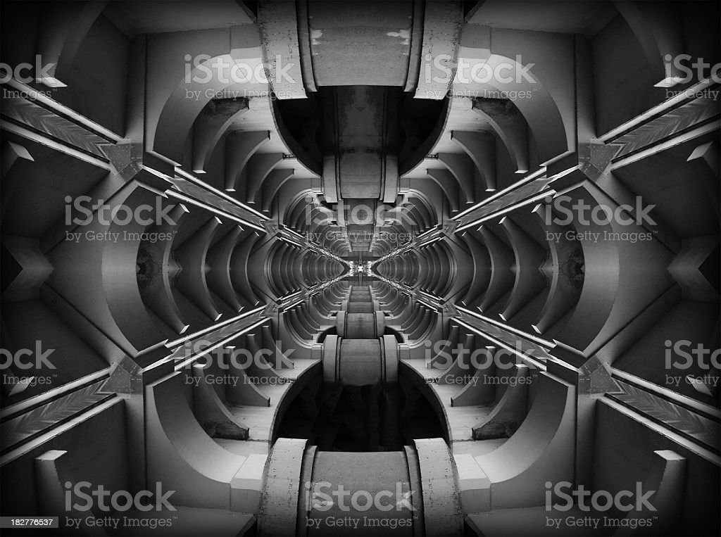 Space Corridor royalty-free stock photo