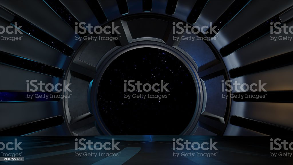 Space environment, ready for comp of your characters. stock photo