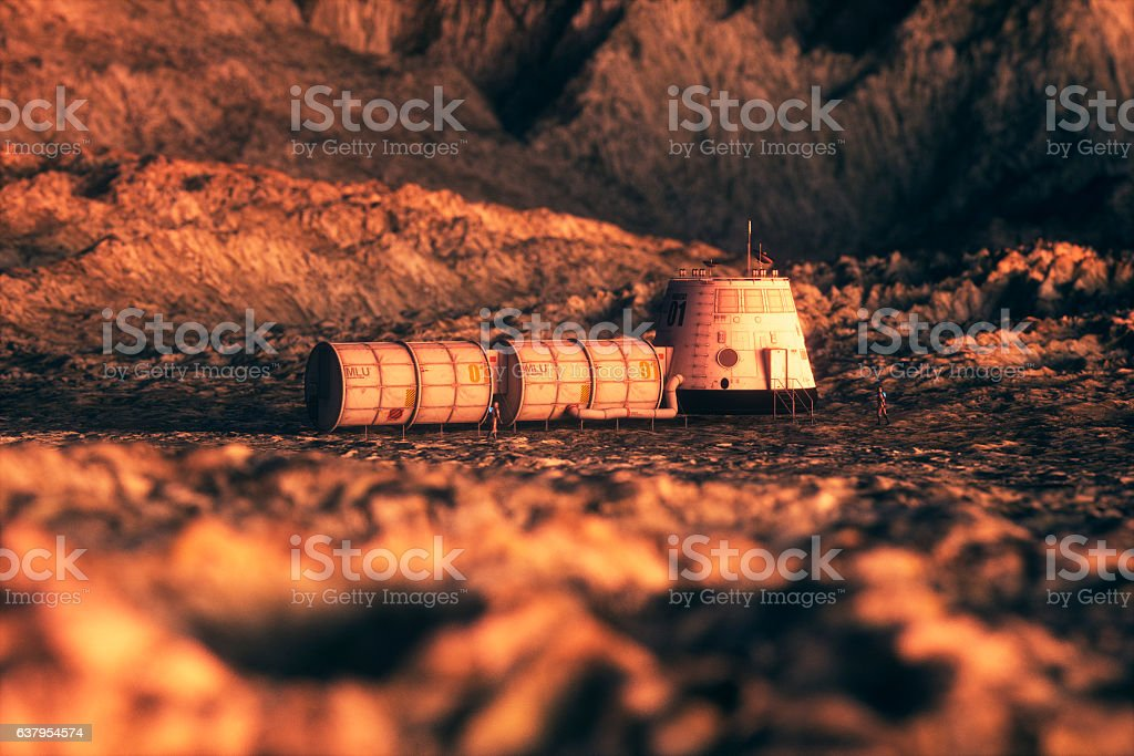Space exploration and planetary colonization stock photo