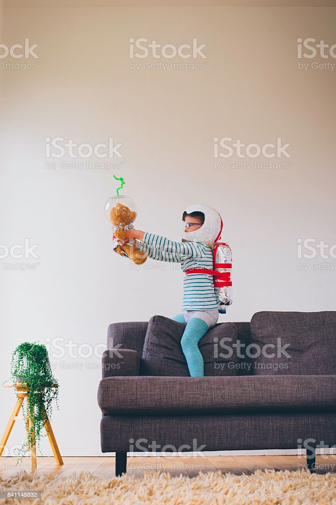 Space Exploration starts at Home! stock photo
