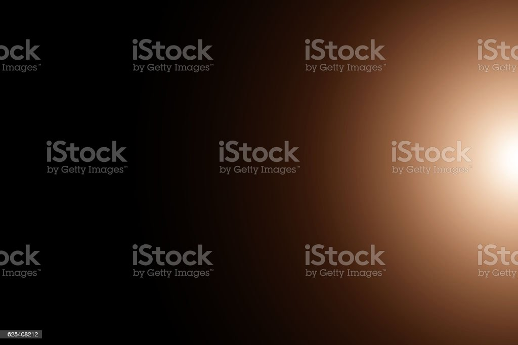 Space flare, Lens flare, Sun flare in the black background. stock photo