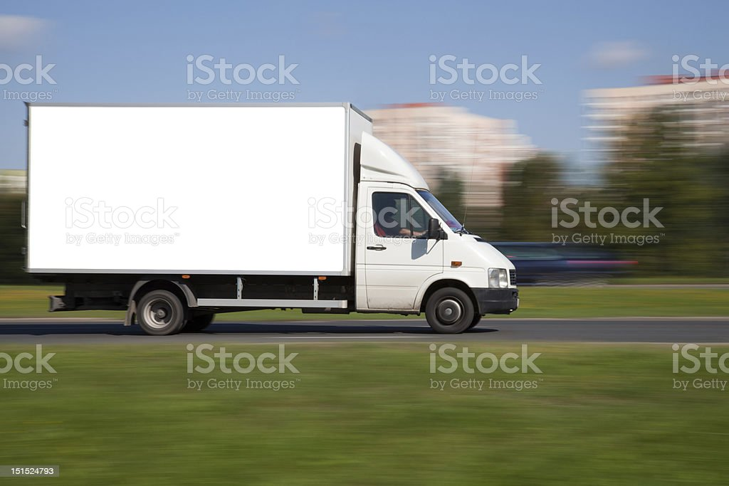 Space for advertisement on truck stock photo