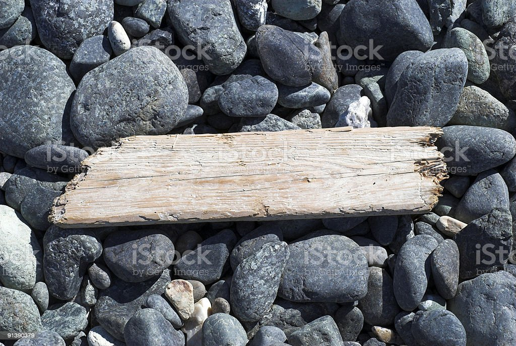 Space for Text on Jetsam royalty-free stock photo