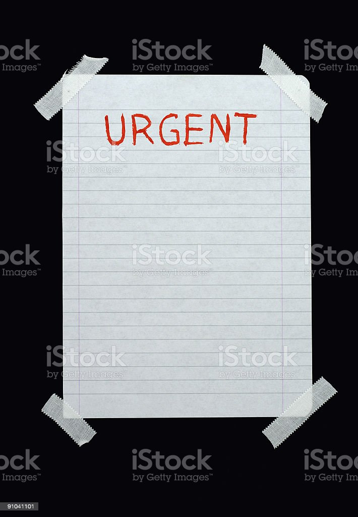 space for urgent notes royalty-free stock photo