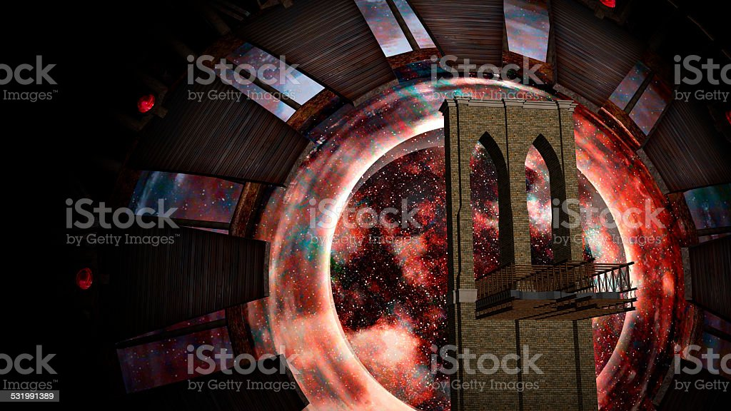 Space Gate into other world stock photo