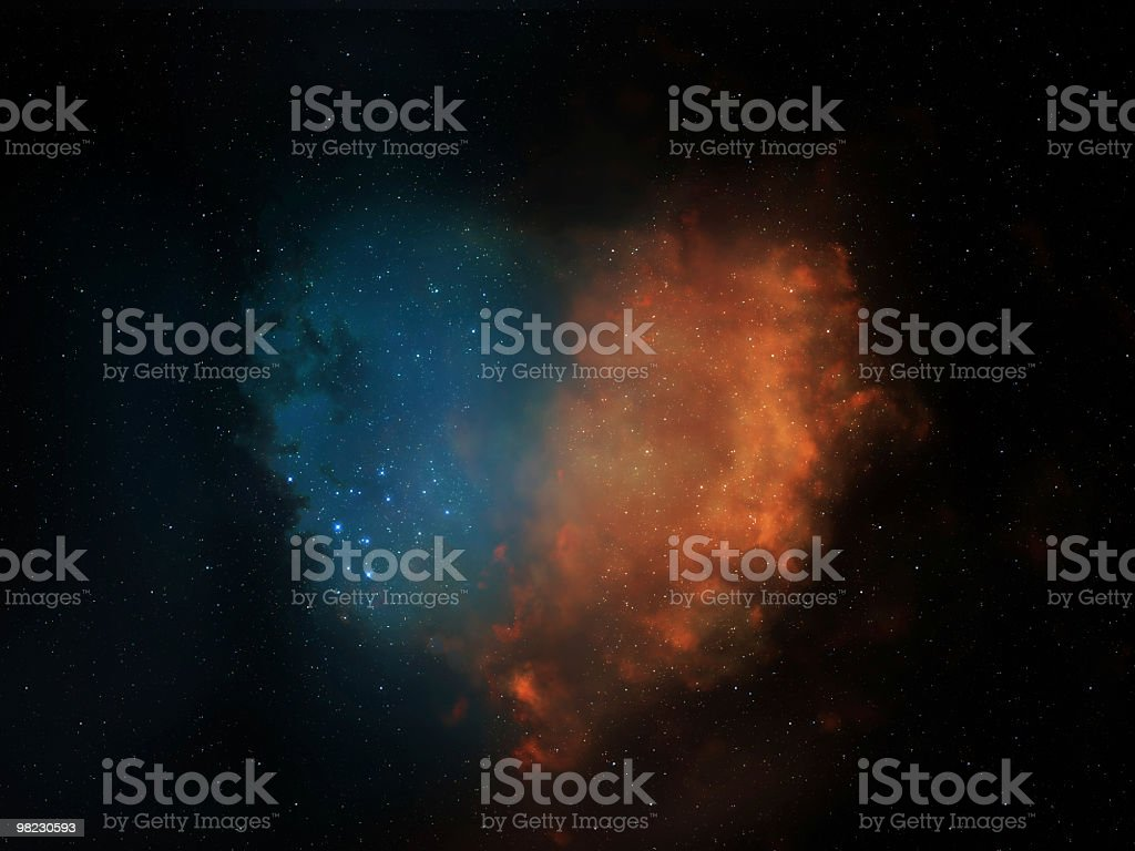 Space heart stock photo
