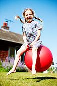 Space hopping girl