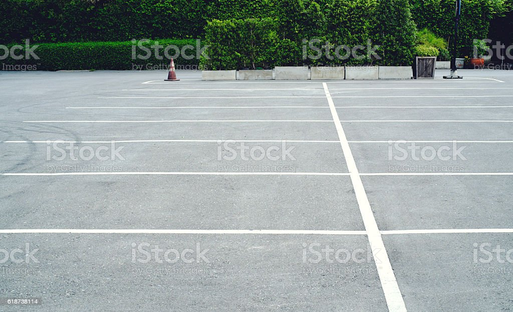 Space in a Parking Lot  background photo stock photo