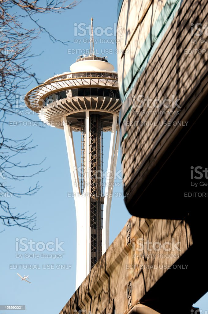 Space Needle and Monorail royalty-free stock photo