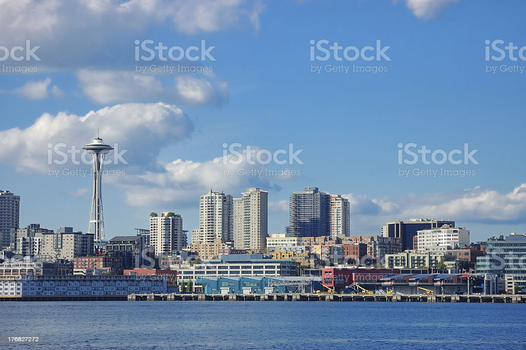 Space Needle and Skyline royalty-free stock photo