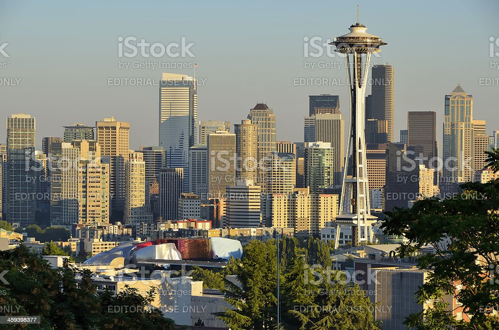 Space Needle in Afternoon Light royalty-free stock photo