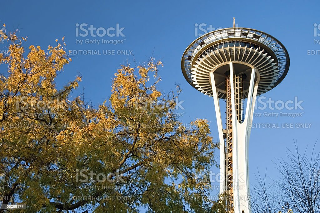 Space Needle in Seattle stock photo