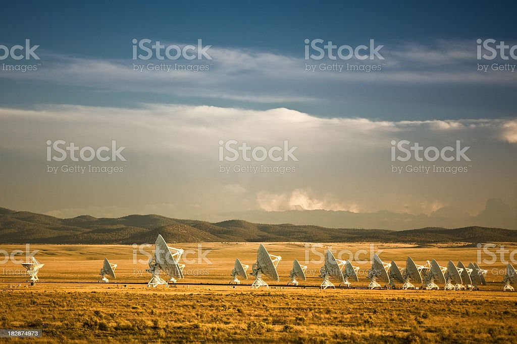 Space observatory signal search royalty-free stock photo