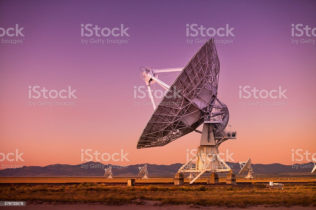 Space observatory signal search stock photo