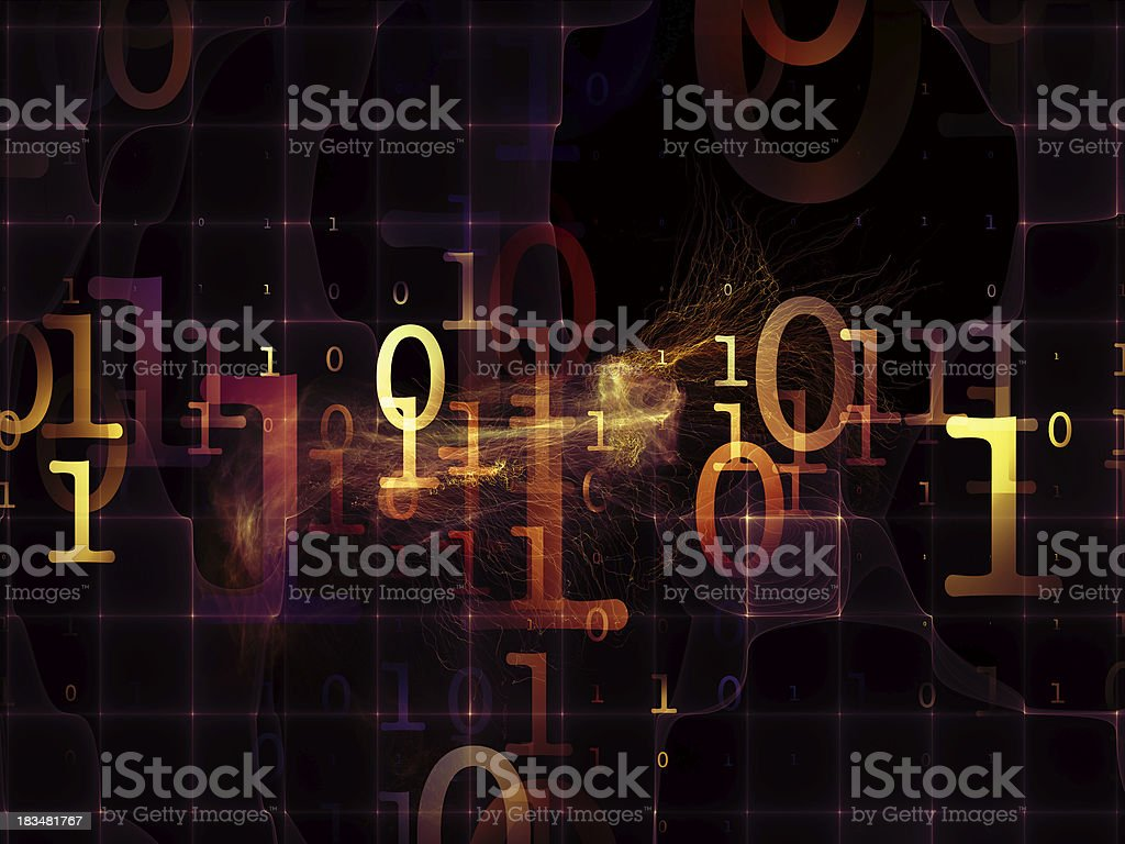 Space of Numbers royalty-free stock photo