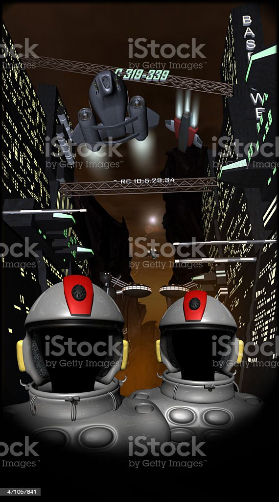 space pilots royalty-free stock photo