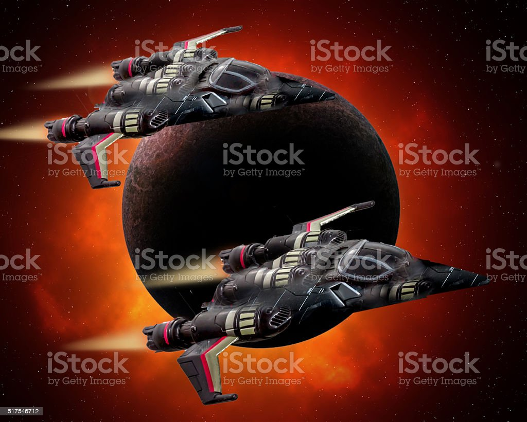 YF-100 Space Raven. stock photo
