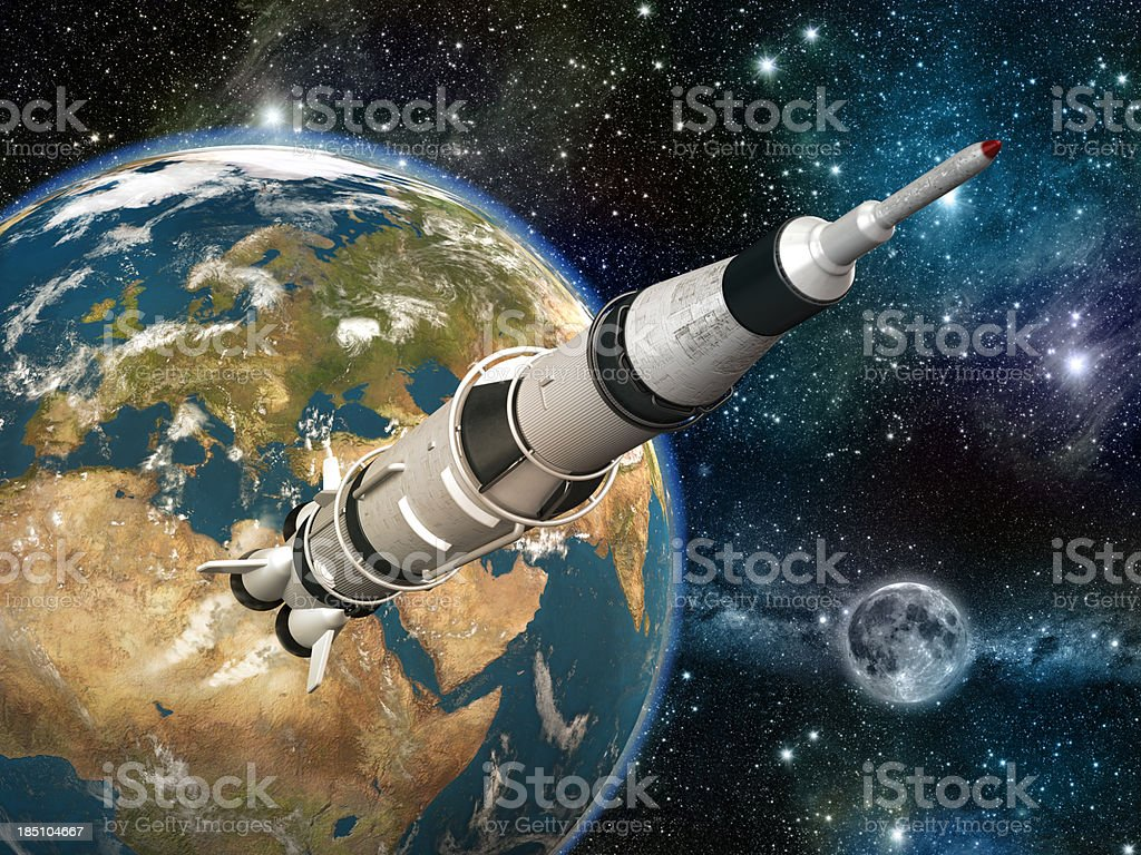 Space rocket royalty-free stock photo
