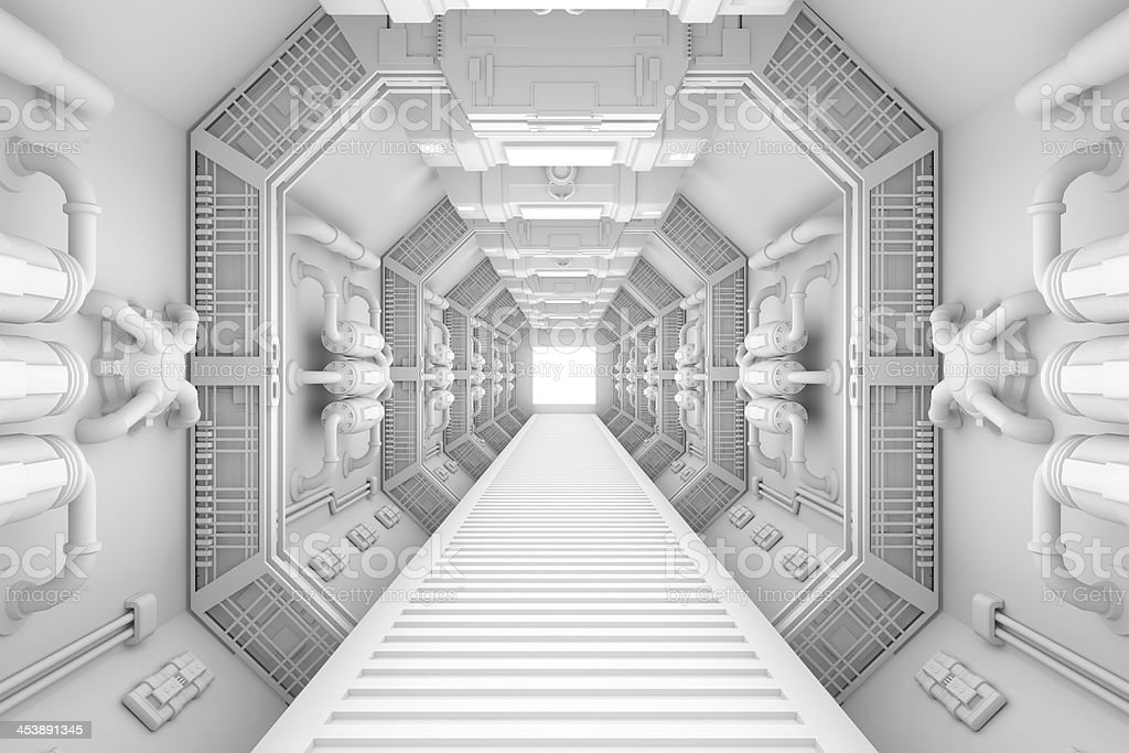 Space ship interior stock photo