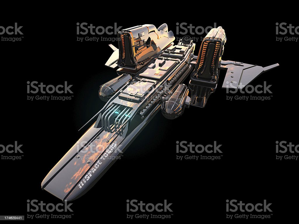 space ship isolated stock photo