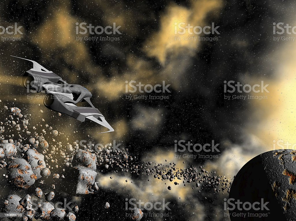 Space ship royalty-free stock photo