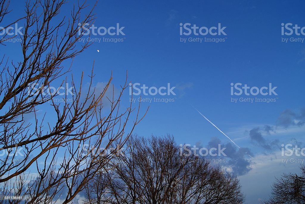 Space Ship to the Moon royalty-free stock photo