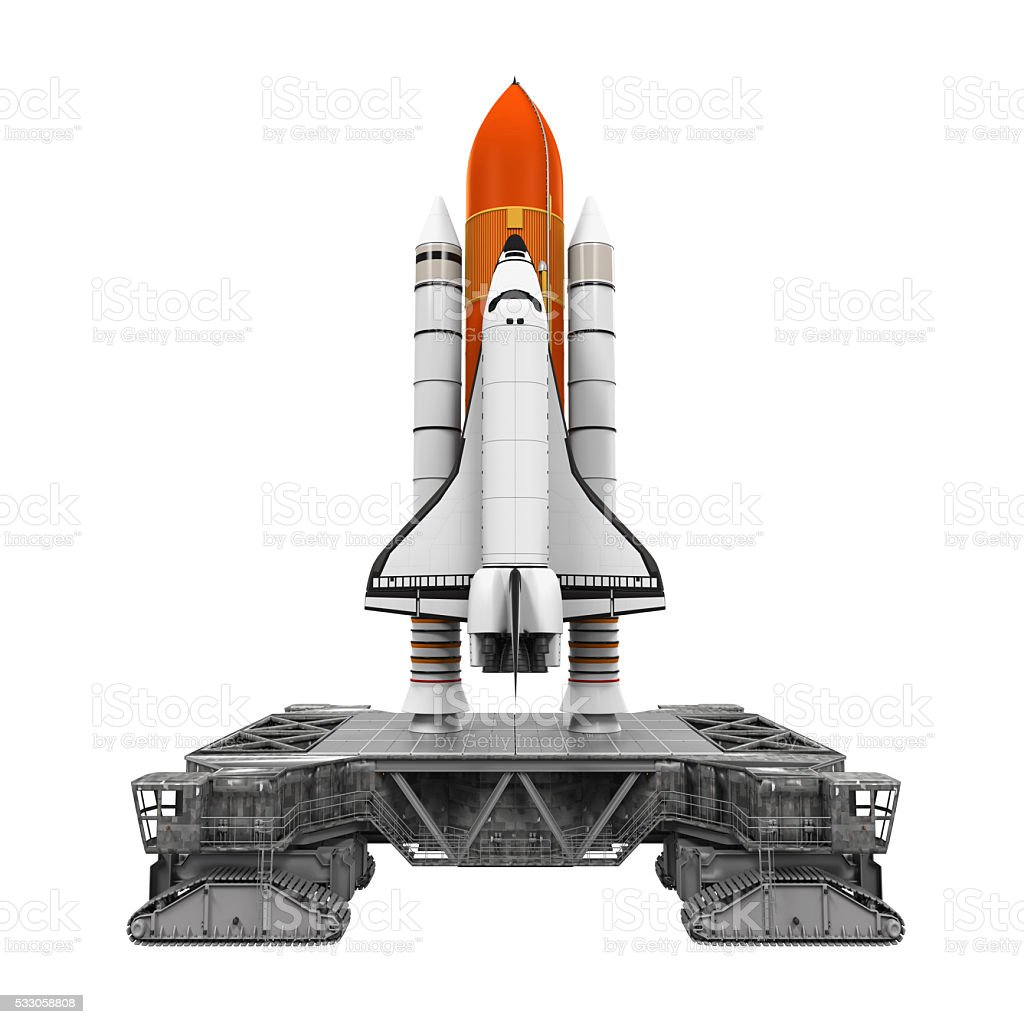 Space Shuttle and Mobile Launcher Platform stock photo