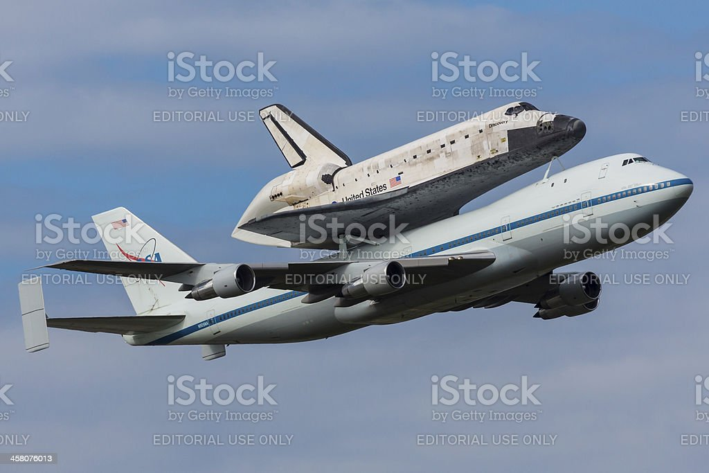 Space Shuttle Discovery Final Mission stock photo