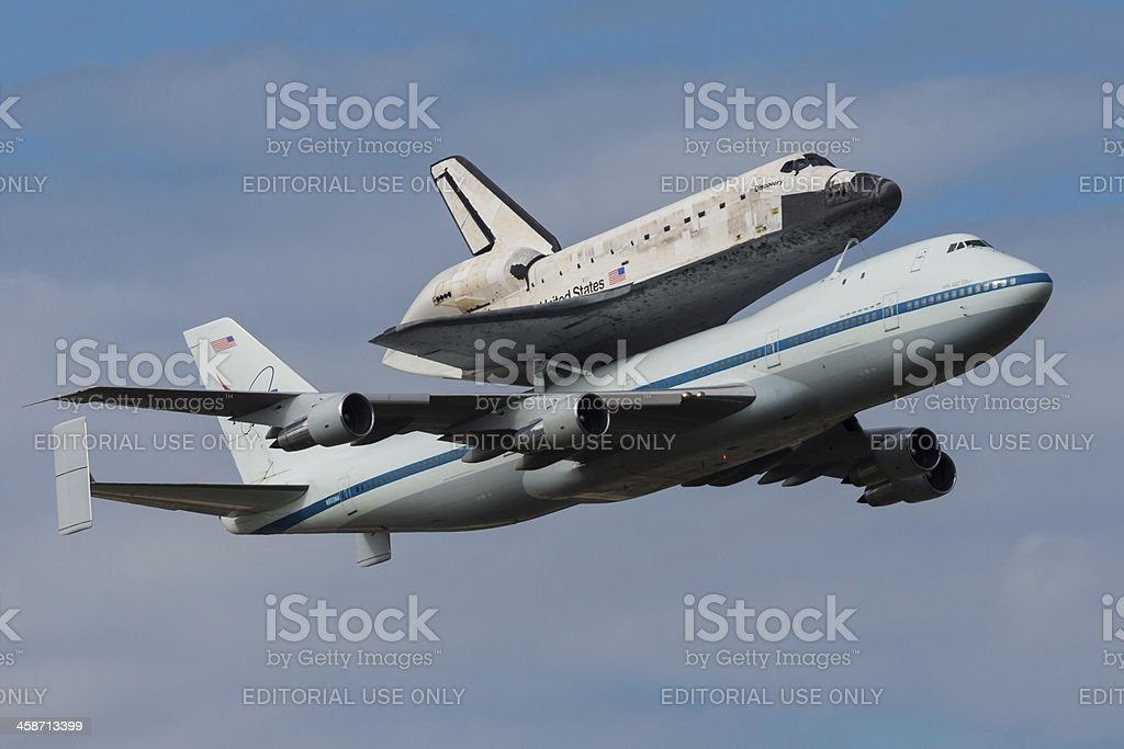 Space Shuttle Discovery Final Mission royalty-free stock photo